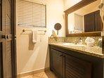 Master bath vanity area and closet