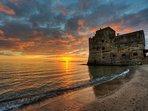 Un tramonto sulla Costa degli Etruschi