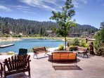 Large patio on the lake