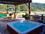 Hot tub on the large patio