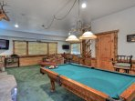 Game Room with Pool Table and 2 TVs