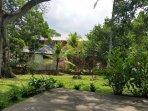 backyard with swing platform