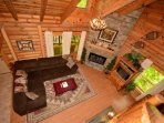 The Living Area is the perfect place for the whole family to relax after a long day of hiking or shopping