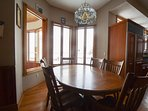 Dining option 2 is in the breakfast nook with seating for 6 to 8.