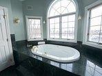 Master bathroom with hot tub.