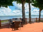 2 expansive decks on 268 feet of Oneida Lake frontage. Plenty of outdoor dining seating