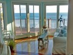 The sun room has a stunning view.