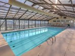 Take a dip in the pristine, indoor community pool!