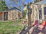Enjoy the beautiful weather outside in the private, spacious backyard.