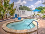 Enjoy amazing resort amenities when you stay at this charming vacation rental cottage in Sarasota's Sun n Fun Resort.