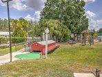 Put your putting skills to the test at the miniature golf course at the Sun n Fun Resort.