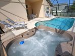 A hot tub to relax in