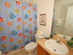 Bathroom between twin bedded rooms