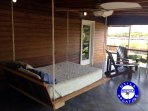 The ultimate in relaxation - King Size hanging bed with privacy screens