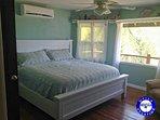 Ocean view pastel bedroom