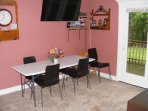 Dining/Gaming/Craft/Multiuse table and seating for six.