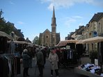 Bustling market at nearby town of Broons, under 10mins away