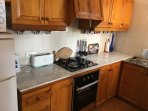 Kitchen with new cooker and Hob