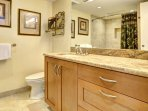 One of two full-sized bathrooms -  bath and shower combination.