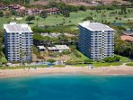 Direct oceanfront - The Whaler on Ka'anapali Beach - 624 is on the 6th floor of the left building.