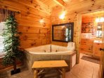 Enjoy the Master Suite Jacuzzi Tub - Relax after a day shopping and entertainment in Pigeon Forge & Gatlinburg