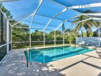 Private Pool With Southern Exposure! Lounging, Private Grill, and Screened in Lanai Make this Beach Rental Perfect for...