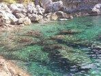 Beautiful crystal clear sea water