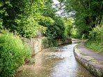 The tranquil Blockley Brook runs through the village