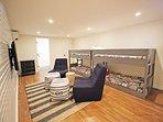 Lower level Bunk/TV room