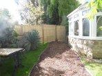 Private garden for The Annexe.