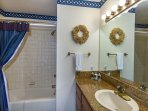Upstairs Hall Bath full equipped