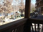 The playground is just steps away from our back deck.