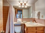 Mountainside Guest Bathroom Frisco Lodging Vacation Rentals