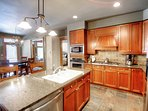 Kitchen - Luxurious kitchen with stainless steal appliances and granite counter tops.