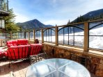 Outdoor Seating Area - Enjoy the right-on-the-slopes view from the communal patio area of Lone Eagle