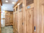 Ski Lockers - Each unit has their own personal ski locker. The keys will be hanging inside of your condo.