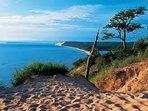 Legendary Sleeping Bear Dunes are 40 min drive away