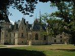 Dhâteau de Meillant, een van de vele mooie kastelen in de buurt.