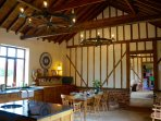 A large converted barn set in spacious gardens in a stunning rural setting