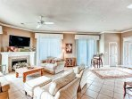 The Living Area Also Features Plenty of Comfortable Seating