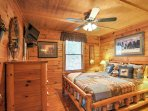 Get a good night's rest in the rustic and cozy bedrooms.