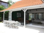 Large outside dining table for 10 persons