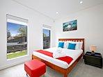 Queen bedroom located Downstairs