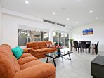 Spacious, Open Plan Living & Dining Area