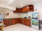 Spacious and equipped kitchen