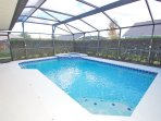 Pool has great deal of privacy with hedges surrounding