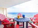 Enjoy your coffee or an adult beverage ocean side