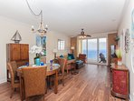 Very spacious condo - open plan with living and dining room combination