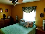 Queen room with adjacent to lanai, lanai has washer, dryer and bathroom. French doors that leads out