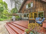 Discover the majestic town of Aptos, California from this 3-bedroom, 2-bathroom vacation rental house with sleeping...